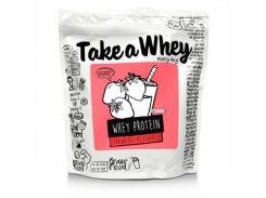 Смесь сывороточного протеина (Whey Protein Blend) со вкусом клубничного молочного коктейля 907 г