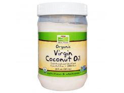 Органическое натуральное кокосовое масло, 591 мл.