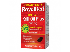 Омега-3 экстра сила с маслом криля (Extra Strength RoyalRed), 500 мг, 60 капсул