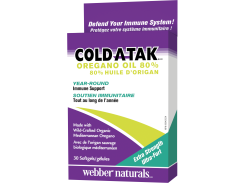 Cold-A-Tak® Масло Орегано Супер сила 80% (Oregano Oil Extra Strength) 180 мг 30 капсул