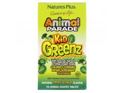 Зеленая пища для детей с тропическим вкусом (Animal Parade Kid Greenz) 250 мг 90 жевательных таблеток