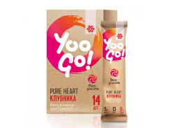 Yoo Gо Напиток Чистое сердце (Pure Heart) 5000 мг со вкусом клубники 14 пакетов