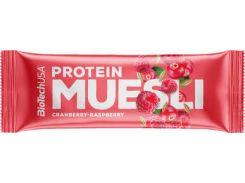 Протеиновый батончик (Protein Muesli) со вкусом клюквы-малины 30 г