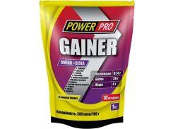 Гейнер Power Pro Gainer Amino+BCAA со вкусом банана 1000 г