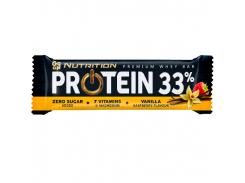 Батончик Protein 33% 1/25 со вкусом ваниль-малина 50 г