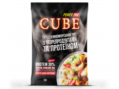 Каша CUBE рис с морепродуктами и протеином 30% 50 г