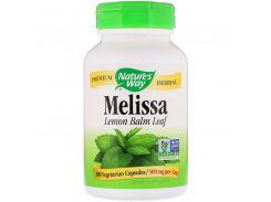 Мелисса, Melissa, лимонный бальзам, 500 мг, 100 капсул