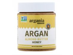 Argania Butter, Миндальная паста с аргановым маслом, медовая, 284г