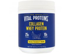 Коллагеновый сывороточный протеин (Collagen Whey Protein) со вкусом банана, корицы и ванили 575 г