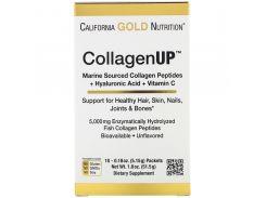Пептиды морского коллагена, гиалуроновая кислота и витамин С (CollagenUp) 10 пакетиков по 5,15 г