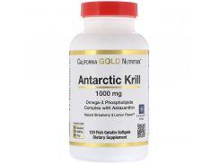 Жир арктического криля с астаксантином 1000 мг 120 капсул со вкусом лимона и клубники