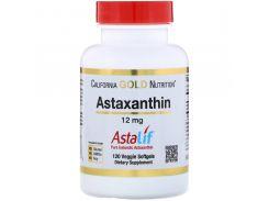 Чистый исландский астаксантин (AstaLif) 12 мг 120 мягких таблеток