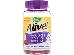 Витамины для волос, кожи и ногтей (Hair, Skin and Nails) 60 жевательных таблеток со вкусом клубники