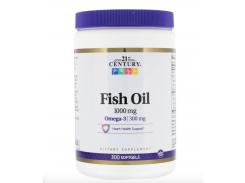 Рыбий жир с омега-3 (Fish Oil) 1000 мг 300 капсул