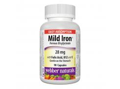 Мягкое железо (Mild Iron Ferrous Bisglycinate) 90 капсул
