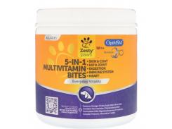 Мультивитаминные перекусы для собак 5-в-1 (5-in-1 Multivitamin Bites) 90 таблеток