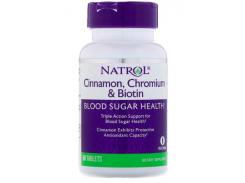 Корица Хром и Биотин для снижения сахара в крови (Cinnamon Chromium and Biotin Blood Sugar Health) 60 таблеток