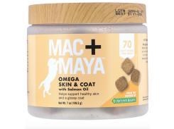 Омега для собак с лососевым жиром (Mac+Maya Omega Skin Coat) 219 мг 70 жевательных конфет