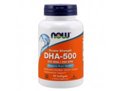 Рыбий жир, двойная сила (DHA-500) 90 капсул