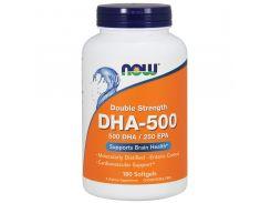 Рыбий жир, двойная сила (DHA-500) 180 капсул