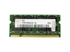 Модуль памяти для ноутбука SoDIMM DDR2 2GB 800 MHz Hynix (HYMP125S64CP8-S6 / HMP125S6EFR8C-S6)