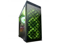 Корпус Frime Illusion green led без БП (Illusion-U3-GLS-4GDRF)
