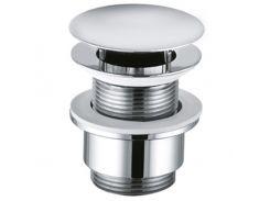 Сливной вентиль Kludi 1042805-00 PLUS закрывающийся G 1 1/4 для раковин без отверстия для перелива, закрытие/открытие push-open