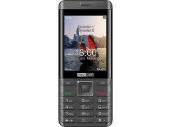 Мобильный телефон Maxcom MM236 Black-Silver