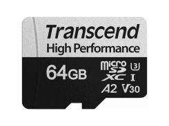 Карта памяти Transcend 64GB microSD class 10 UHS-I U3 A2 (TS64GUSD330S)