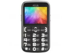 Мобильный телефон NOUS NS 2422 Helper Black Silver