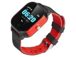 Детские смарт-часы GoGPS ME К23 Черный с красным (K23BKRD)