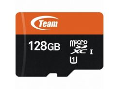 Карта памяти Team 128 GB microSDXC UHS-I + SD Adapter (TUSDX128GUHS03)