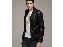 Мужская куртка из экокожи р46 черная