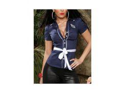 Блуза Морячка р44 синяя