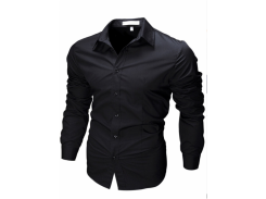 Рубашка мужская рS черная