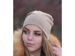Трикотажная шапка One Size капучино