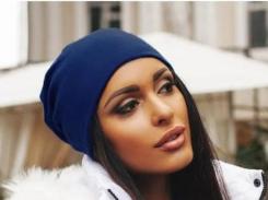 Трикотажная шапка One Size темно-синяя