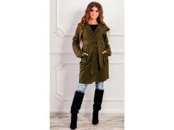 Пальто с капюшоном NB18034 р48 хаки