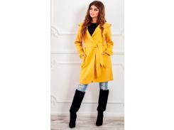 Пальто с капюшоном NB18034 р48 желтое
