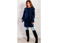 Пальто с капюшоном NB18034 р48 синее