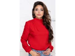 Блуза с бантом GF406 р46/48 красная