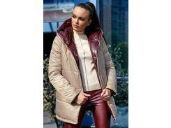 Куртка двухсторонняя SV3695 рXL капучино-бордо