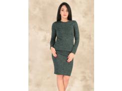 Женский костюм с юбкой GF00174 р46/48 зеленый