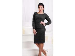 Женский костюм с юбкой GF00174 р46/48 черный