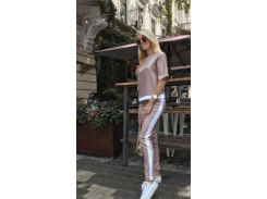 Женский костюм батал Fashion Woman GF000762 р52 мокко