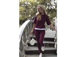 Женский костюм батал Fashion Woman GF000762 р52 марсала