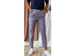 Женские брюки Fashion Woman NB20032 серый р42