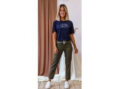 Женские брюки Fashion Woman NB20032 хаки р44