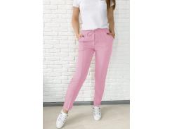 Женские брюки Fashion Woman GF000140  розовые р48