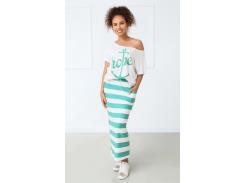 Женский костюм в полоску Fashion Woman GF000728 бело-зеленый р50/52